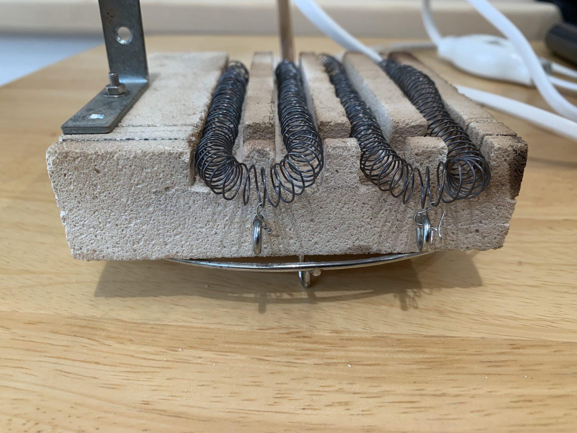 【改良】自作の燻製用電熱線ヒーターの不具合を解決した